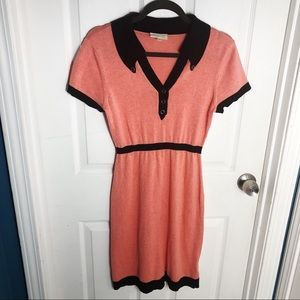 Coral ModCloth Midi Dress